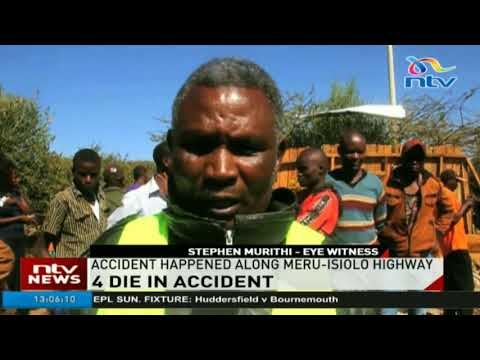 4 die in accident along Meru-Isiolo highway