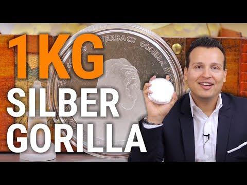 1 KG SILBER 🇨🇬 Silverback Gorilla 2017 🇨🇬 Auflage: 5.000 Stück