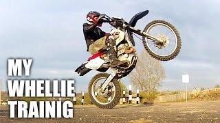 Whellie training / Как я учусь делать вилли на эндуро (honda XR250 R)