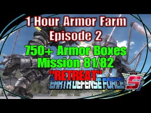 "Earth Defense Force 5 ""1 Hour Armor Farm Episode 2"" 750+ Armor Boxes Mission 81/82 ""Retreat"" thumbnail"