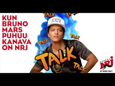 Bruno Mars interview on Radio NRJ Finland