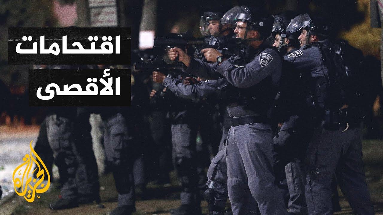 القدس.. إصابة عشرات الفلسطينيين بمواجهات مع الاحتلال داخل باحات المسجد الأقصى  - 23:58-2021 / 5 / 7