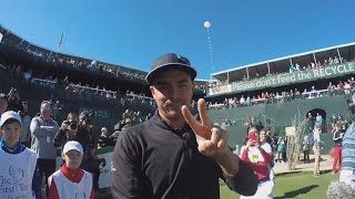 Rickie Fowler is all about the selfie stick at Waste Management