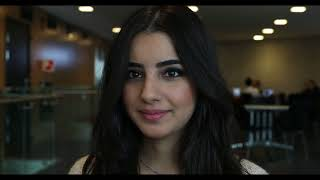 Lilas, a Syrian girl, talks about adapting to her new life in Norway