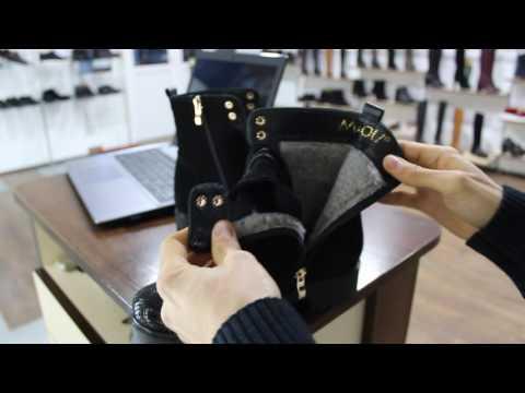 Зимние женские ботинки на шнурках и молнии черные Miolli Лак+замша