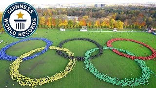 Largest human image of the Olympic rings - Guinness World Records