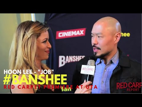 "Hoon Lee ""Job"" intervewed at the Season 4 Premiere for Cinemax' Banshee #Banshee"