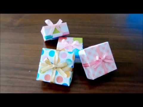 how-to-make-a-jewelry-gift-box-【origami-gift-box】