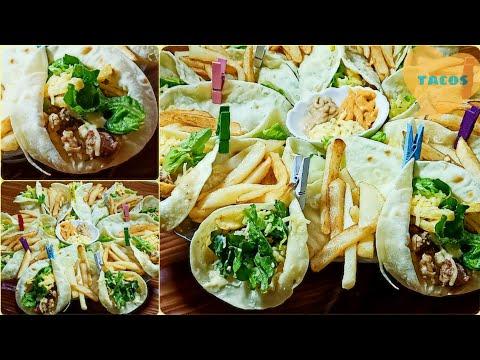 #وصفات #طاكوس طاكوس منزلي 100%من الخبز إلى الحشوة روعة بمذاق جد رائع وشكل جد راقي😉😋