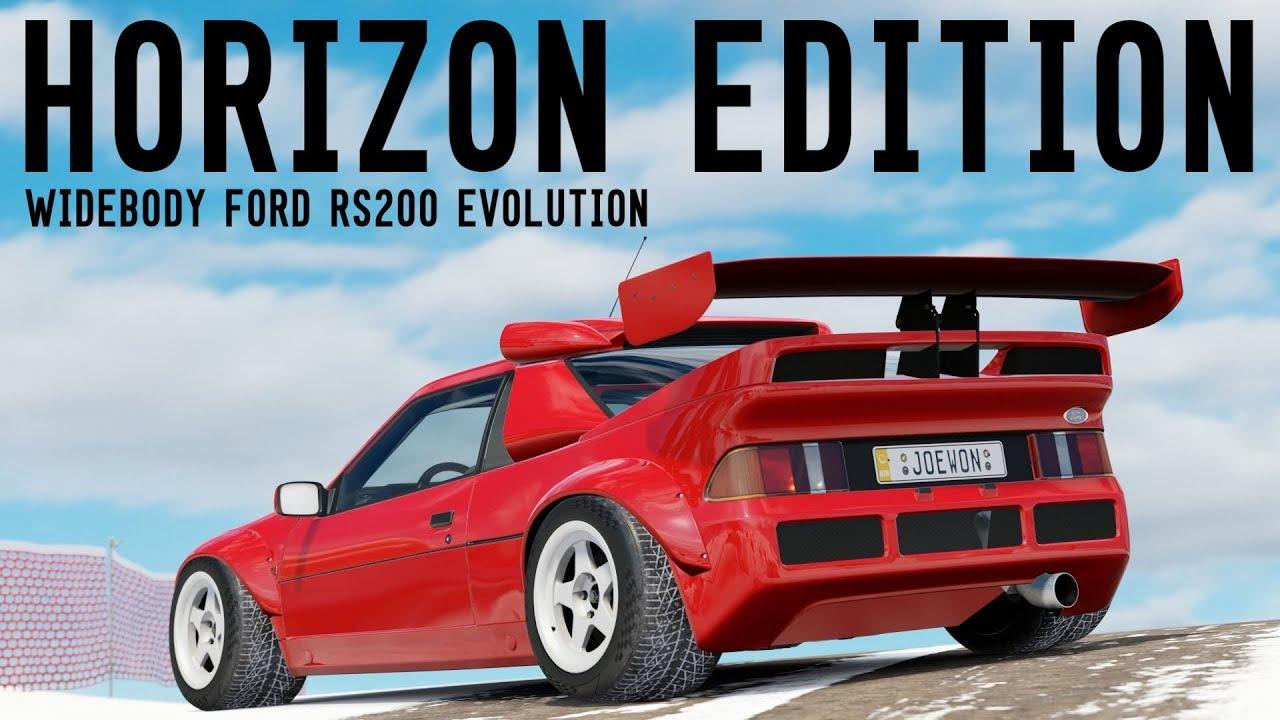 Epic Widebody Ford Rs200 Horizon Edition Forza Horizon 3 Youtube