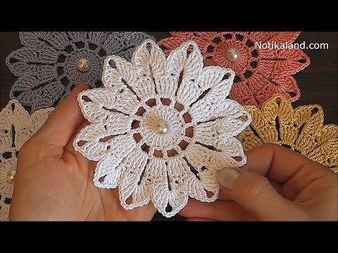 Crochet Flower Tutorial Very Easy Crochet Flower Easy Pattern Youtube