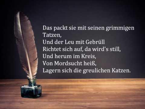 Friedrich Schiller: Der Handschuh - Mit Text!!!