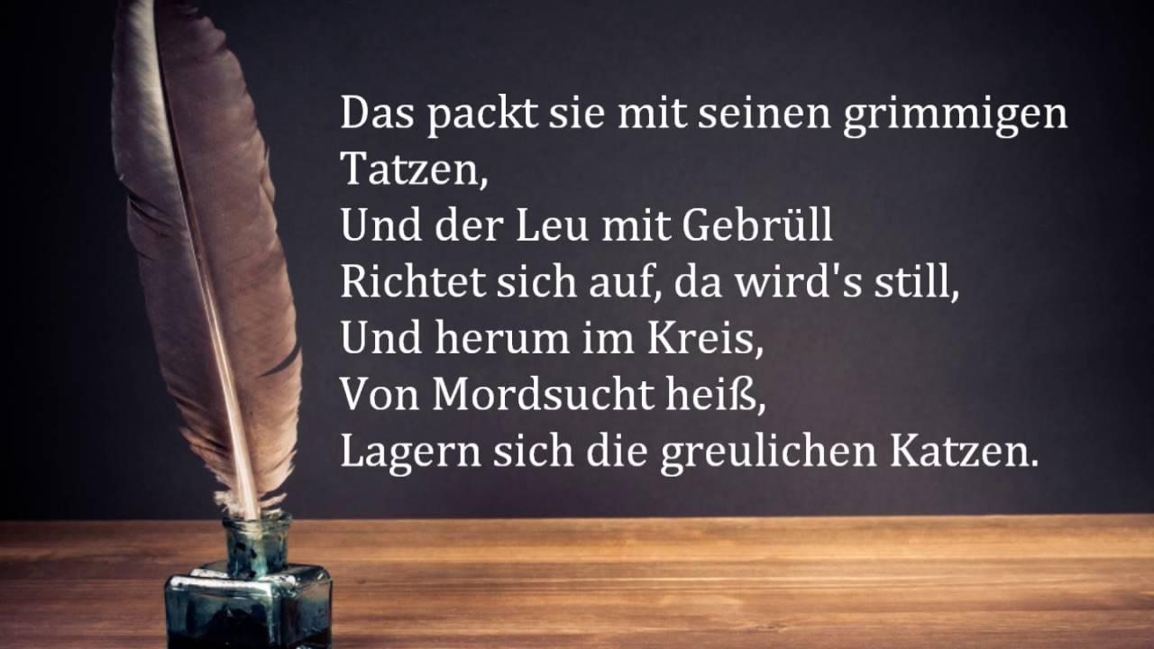 Friedrich Schiller Der Handschuh Mit Text
