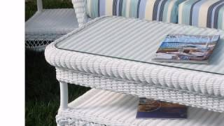 Outdoor Wicker Coffee Table - Manchester - Wickerparadise.com