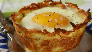Hash Brown Breakfast Cups Recipe Demonstration - Joyofbaking.com