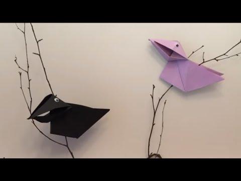 Crow - Origami, ворона - оригами