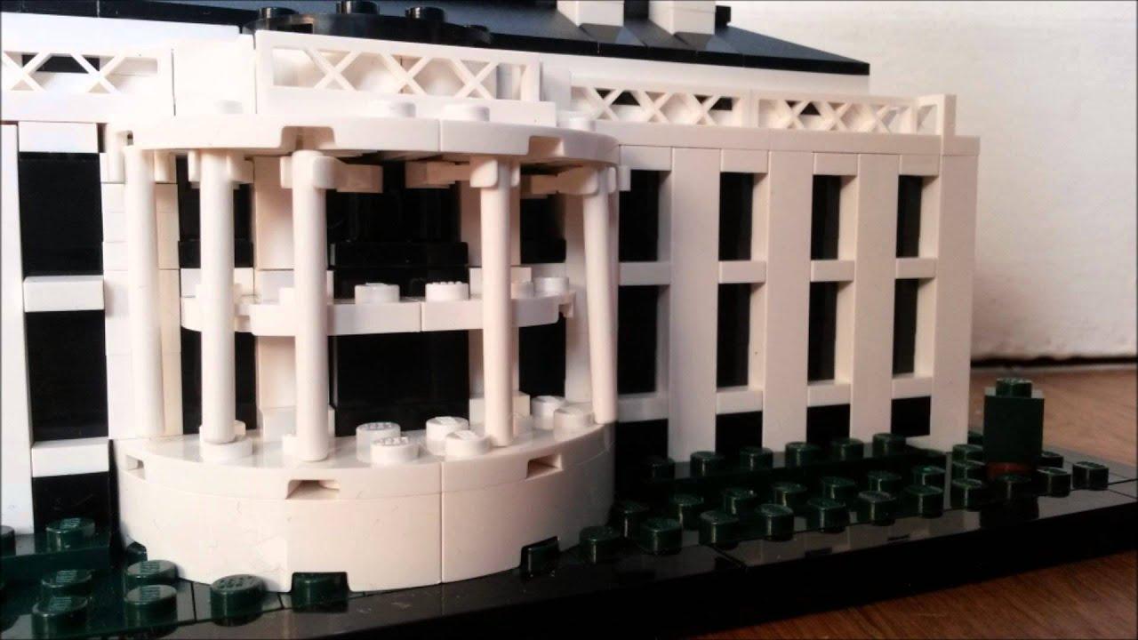Lego architecture la maison blanche youtube for A la maison blanche