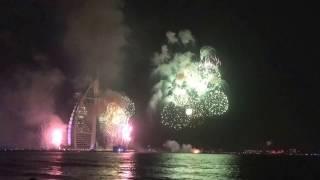 Burj Al Arab Fire Works NYE 2017 -Time Lapse