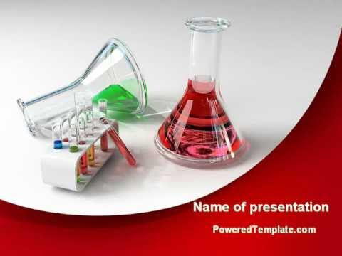 Chemical Lab Equipment PowerPoint Template By PoweredTemplate.com