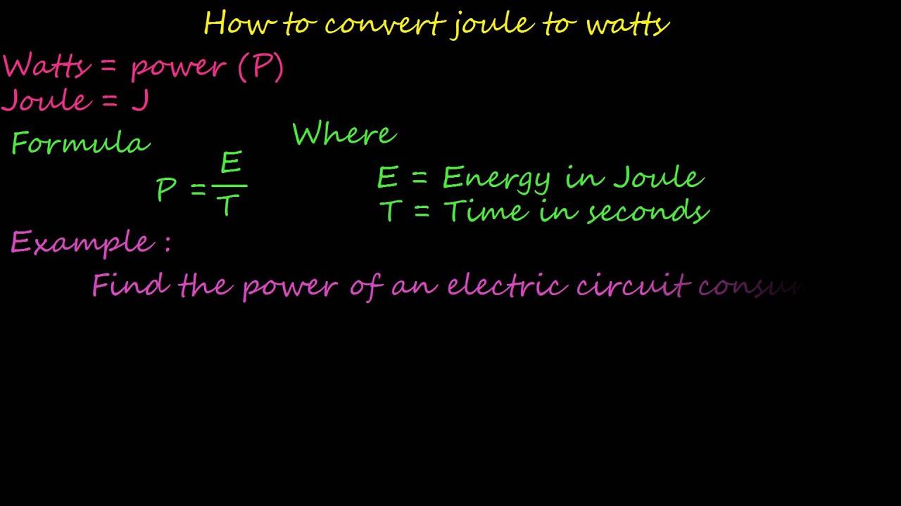How to Calculate Joules How to Calculate Joules new photo