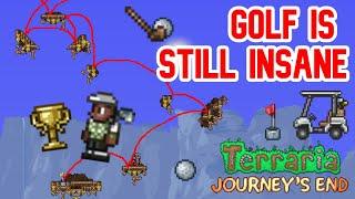 Ridiculous Golf Trickshots #5 | Terraria Journey's End