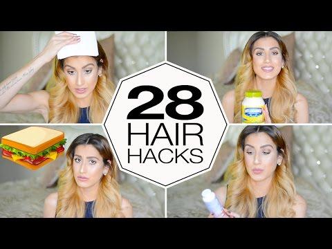 28 Insane Hair Hacks Using Household Items!