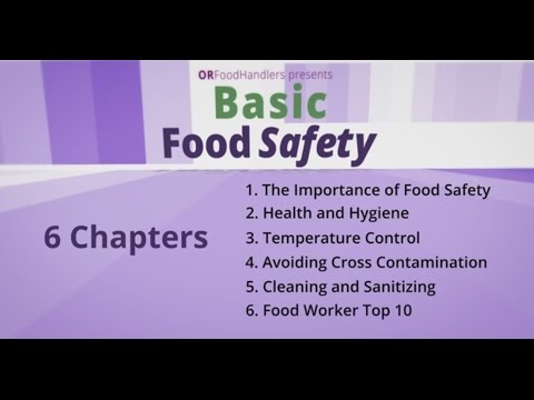 Basic Food Safety for Oregon (English)