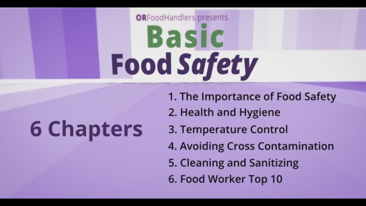 Basic Food Safety for Oregon: Introduction (English)