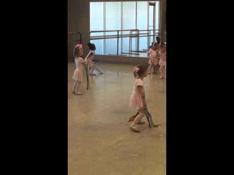 My little one doing her ballet thing