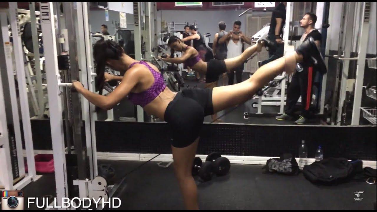 rutina de pierna y gluteo gym mujer