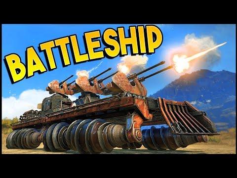 Crossout - EPIC TRIPLE CYCLONE LAND BATTLESHIP! (Crossout Gameplay)