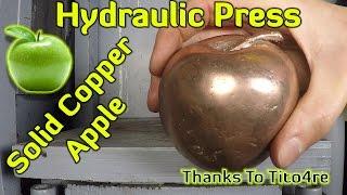 Hydraulic Press vs Solid Copper Apple from TiTo4re