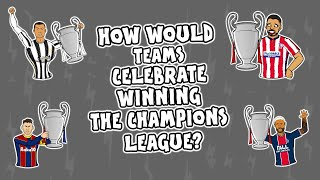 The onefootball x 442oons show is back wondering 'how would teams celebrate winning champions league? as liverpool, barcelona, juventus, real madrid, man...
