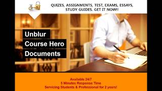 How to Unblur Course Hero Documents| Free Course Hero Account