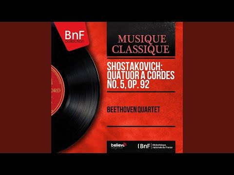 String Quartet No. 5 In B-Flat Major, Op. 92: III. Moderato
