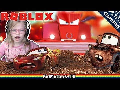 Roblox CARS 3 obby - SAVE LIGHTNING MCQUEEN!! Adventure Obby [KM+Gaming S01E44]