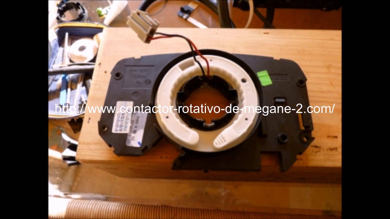 reparacion rotativo airbag de renault megane 2 gastando unos 25 euros youtube. Black Bedroom Furniture Sets. Home Design Ideas