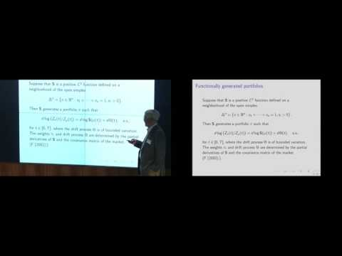 Robert Fernholz - Volatility and arbitrage