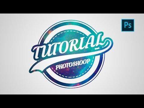 Photoshop Logo Design Tutorial Galaxy Logo - YouTube