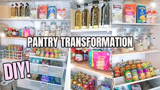 DIY PANTRY MAKEOVER ON A BUDGET | PANTRY ORGANIZATION IDEAS | ULTIMATE CLEAN, DECLUTTER, ORGANIZE
