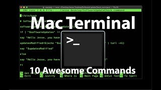 Mac Terminal  10 Awesome Commands!