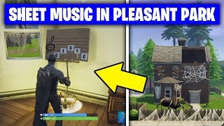 Fortnite 'Find the Sheet Music in Pleasant Park' LOCATION/GUIDE (Season 6 Week 6 Challenges)