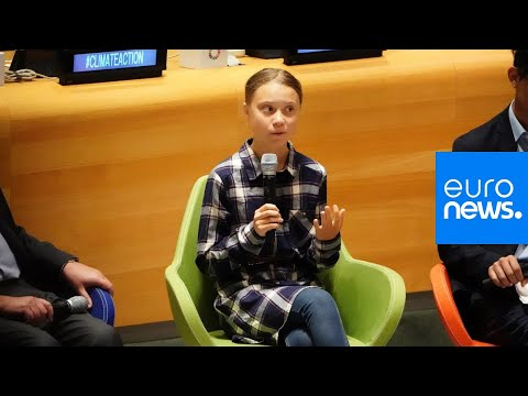 euronews (in English): Live   Teenage activist Greta Thunberg gives speech at UN Youth Climate Summit