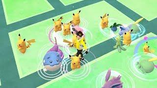 【ポケモンGO】日焼けピカチュウ大量発生!コミュニティデイ!【Pokemon Go】