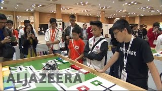 Students flock to India for World Robot Olympiad