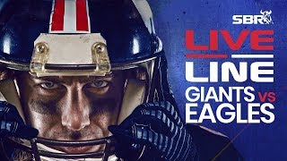 Giants vs Eagles  | LIVE Monday Night Football NFL Betting on SBR