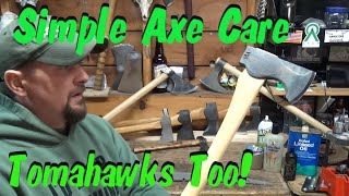 Axe and Tomahawk quick & simple care tips, saws and sheaths too !