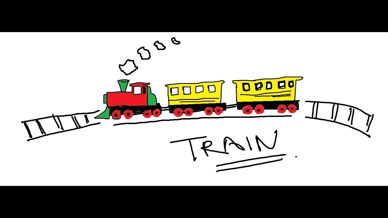 Easy Kids Drawing Lessons : How to draw a cartoon train - YouTube How To Draw A Train For Kids Step By Step