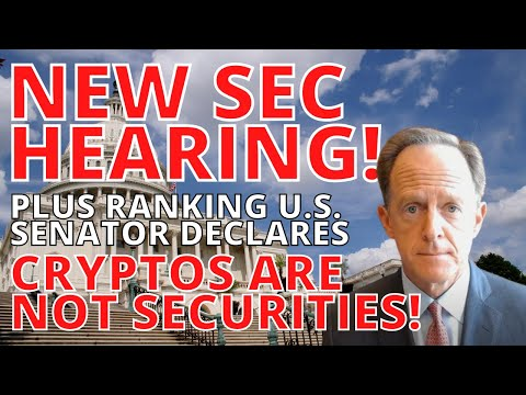"""XRP Ripple BREAKING news today: NEW SEC HEARING & """"Cryptocurrencies are not Securities,"""" US Senator"""