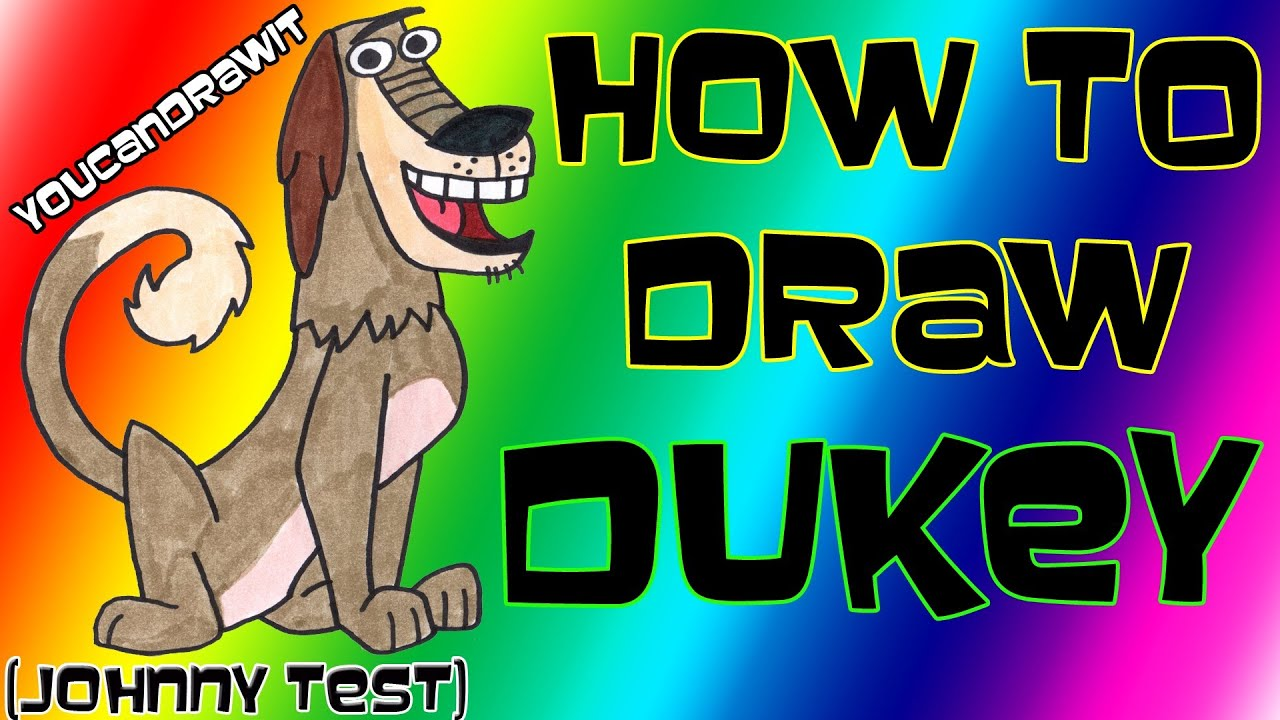 Scribble Drawing Quiz : How to draw johnny test and dukey imgkid the